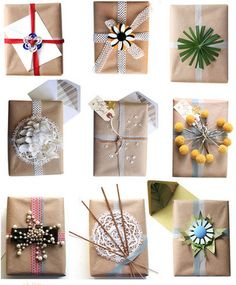gift wrap options using kraft paper