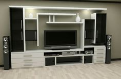 New living room tv wall decor tv placement Ideas Living Room Shelves, Living Room Colors, New Living Room, Small Living Rooms, Living Room Kitchen, Wall Shelves, Dining Rooms, Book Shelves, Bathroom Shelves