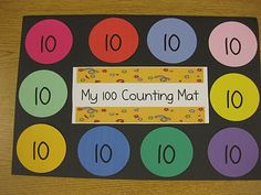 100th Day of School...a mat to use throughout the day for counting activities such as making 100th day trail mix