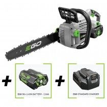 High quality 56v cordless chainsaw with 4.0 lithium ion battery & charger