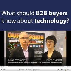 Watch Brad Wamsley's interview with Direct Marketing News at Direct Marketing Association to hear his answer to this question. http://www.dmnews.com/video-an-inside-view-on-b2b-tech/article/316669/
