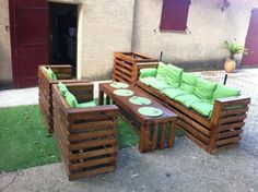 outdoor furniture from palettes