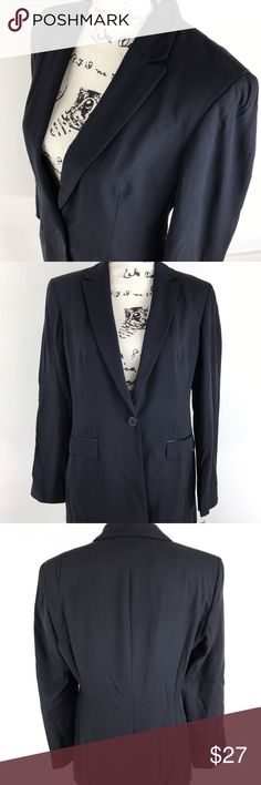 """ NEW "" JONES NEW YORK Button Front Dark Blue Suit New with tags This is a nice and comfortable "" NEW with Tags "" JONES NEW YORK Button Front Dark Blue Suit Jacket Blazer Women's Size 8 Retail Price $199.00  Brand: JONES NEW YORK  Style: Button Front Dark Blue Suit Jacket Blazer Color: Dark Blue Size: 8 Measurements: Please see photos Material: 60% Rayon 40% Virgin Wool  Condition: New with Tags. Jones New York Jackets & Coats Blazers"