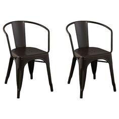 Carlisle Metal Dining Chair - Natural Metal (Set of 2) : Target