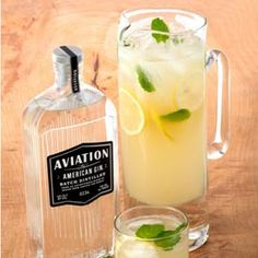 gin, honey, dry reisling, pineapple plus a few other ingredients makes a pitcher full - need to try