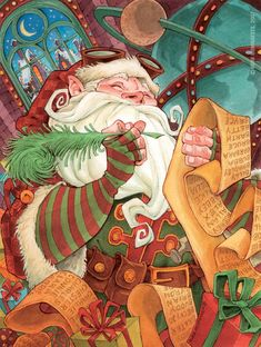 Santa's Workshop by Robb Mommaerts | Go to Source for 30 Inspirational Illustrations Based On Santa Claus!