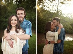 Love this romantic outdoor engagement session in the Tri-Cities by Oh So Haute Photography! | The Pink Bride® www.thepinkbride.com
