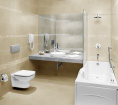 Functional Bathroom Layout With Combined Shower And Bathtub