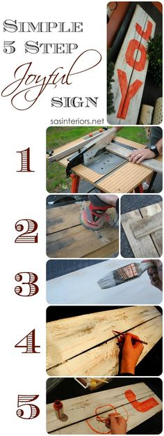 DIY: Simple 5 Step JOY Sign by SASInteriors