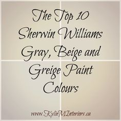 Williams : 5 of the Best Neutral / Beige Paint Colours the best, top 10 sherwin williams gray, beige and greige paint colours for any room in your homethe best, top 10 sherwin williams gray, beige and greige paint colours for any room in your home Best Neutral Paint Colors, Interior Paint Colors, Paint Colors For Home, Wall Colors, House Colors, Paint Colours, Interior Painting, Color Paints, Best Greige Paint Color