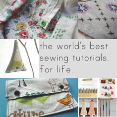HUGE list of free sewing tutorials/patterns for anything you might need