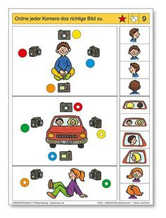 Rekenen: Pico Piccolo: Perspectief Printable Preschool Worksheets, Preschool Games, Montessori Activities, Infant Activities, Learning Activities, Visual Perception Activities, Sequencing Cards, File Folder Activities, Math Facts