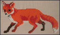 Fox hama perler bead sprite by Jelizaveta on deviantART