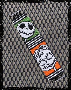 Halloween NIGHTMARE Jack and Sally peyote beaded by PicklesandCo, $49.99