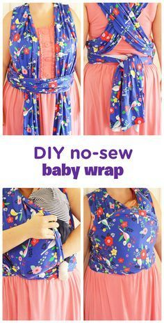 Snuggling is just the best—so make it an all-day affair with this DIY no-sew baby wrap. It'll make you feel super crafty and cool and let you keep your baby safely swaddled no matter where you go! Wearing this wrap will probably make you feel at least a l