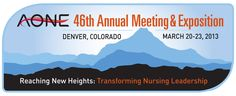 The 46th American Organization of Nurse Executives (AONE) Annual Meeting kicks off tomorrow in Denver, CO. With more than 45 concurrent sessions, networking opportunities, exhibit hall, and great lineup of national speakers, this event looks really tremendous. Looking forward to it and hope to see you there! #AONE2013    http://www.aone.org/conference2013/index.shtml