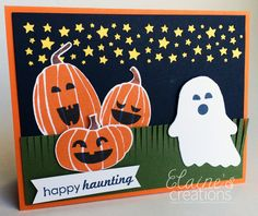 Stampin' Up! Fall Fest Halloween Card Elaine's Creations