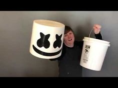 Marshmello Helmet DIY - YouTube