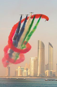 "visualechoess: "" UAE Aerobatic Team - Al Fursan - (via) 