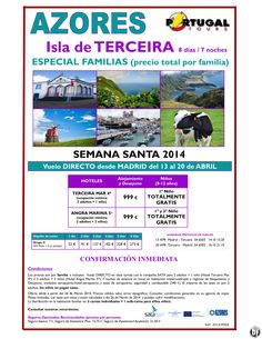 Azores Isla Terceira Especial Familias del 13-20 abril salida Madrid a 999 € ultimo minuto - http://zocotours.com/azores-isla-terceira-especial-familias-del-13-20-abril-salida-madrid-a-999-e-ultimo-minuto/