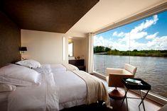 luxury hotel bedroom interior design - Internal Home Design Home Design, Interior Design, Luxury Cruise Lines, Floating Hotel, Amazon River, Luxury Travel, Luxury Cruises, Architecture, Beautiful Places