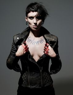 Rooney Mara as Lisbeth Salander  - This chick can act. Have you seen this movie? She plays a dark, abused character who is an incredibly intelligent badass. You fall in love with her by the end of the movie.