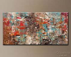 OVERSIZED Original Abstract Painting by CGUEDEZ. par carmenguedez