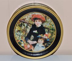 On The Terrace Tin Vintage Tin Storage Tin Button Tin by WVpickin