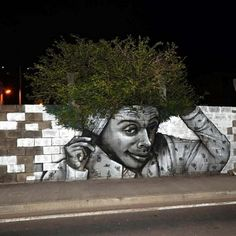 Street Art fusing with Nature