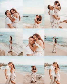 Couple Beach Photos, Summer Family Photos, Beach Engagement Photos, Beach Wedding Photos, Family Beach Portraits, Family Beach Pictures, Couple Photoshoot Poses, Couple Posing, Couples Beach Photography