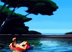 "Saatchi Art Artist Hugo Pondz; Figurative Painting, ""The Warmest Day"" #art"