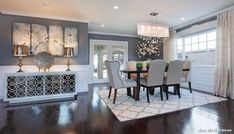 Image result for grey dining room wall nina ricci maison