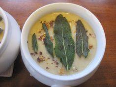 Cauliflower + Hazelnut Soup with Fried Sage Cauliflower, Cabbage, Soup, Friday, Fruit, Cauliflowers, Cabbages, Soups, Cucumber