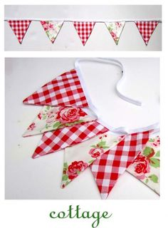 pennant banner- love the antique roses Fabric Bunting, Bunting Garland, Pennant Banners, Bunting Banner, Fabric Banners, Bunting Ideas, Buntings, Fabric Crafts, Sewing Crafts