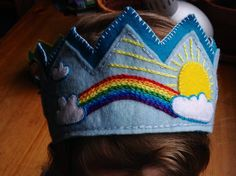 Boy or Girl Waldorf Birthday Crown, Rainbow Fairy Crown
