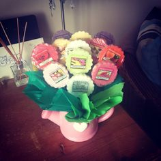 My homemade Yankee candle bouquet