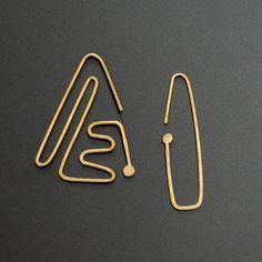 Nazca lines dangle earrings brass by jimenabolanos on Etsy, $30.00