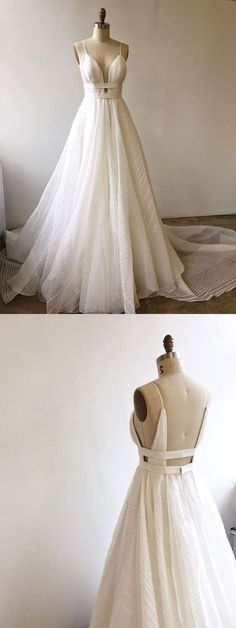 White bride dresses. All brides think of having the perfect wedding ceremony, however for this they require the perfect wedding gown, with the bridesmaid's outfits enhancing the brides dress. These are a number of ideas on wedding dresses. #weddingdress