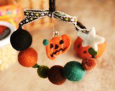 Pumpkin wreath for halloween ハロウィン パンプキン リース