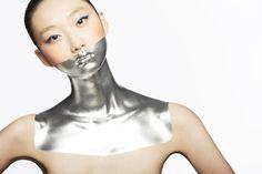 white futuristic makeup - Sök på Google