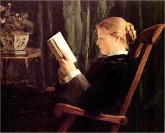 Reading girl, 1882 by Albert Anker