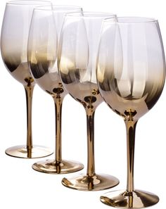 Gold ombre wine glasses – set of 4 effortlessly sophisticated, this set of 4 wine glasses brings style and elegance to any table spread. Fancy Wine Glasses, Colored Wine Glasses, Wine Bottle Glasses, Wine Bottles, Rose Gold Wine Glasses, Wine Glass Set, Drinking Glass, Drinkware, Metal