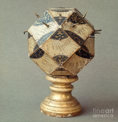 Polyhedral sundial with 26 faces, dating from the 16th century. On display at the Museum of the History of Sciences in Florence, Italy. Artist: Tomsich. [Click for Hi-Rez] (via http://fineartamerica.com/featured/polyhedral-sundial-tomsich.html )
