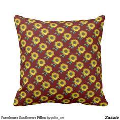 Farmhouse Sunflowers Pillow