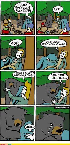 Spela död björn