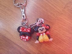 My polymer clay keychain Minnie Mouse ^-^ FIMO prívesok na kľúče Minnie Mouse ^-^
