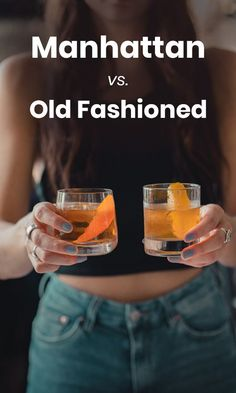 How are a Manhattan and Old Fashioned different? It's one ingredient but it makes all the difference in the final recipe. Bourbon Cocktails, Classic Cocktails, Cocktail Drinks, Cocktail Recipes, Fall Cocktails, Whiskey Drinks, Whiskey Old Fashioned, Old Fashioned Drink, Old Fashioned Recipes