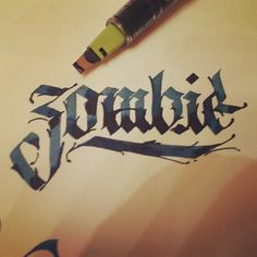 Parallel pen / black letter