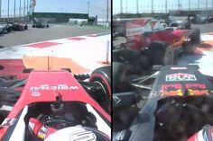 【動画】 セバスチャン・ベッテルとダニール・クビアトの車載カメラ / ロシア  [F1 / Formula 1]