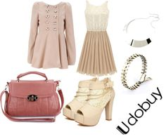 """Pretty In Pink With Udobuy"" by dayday1andonly ❤ liked on Polyvore"